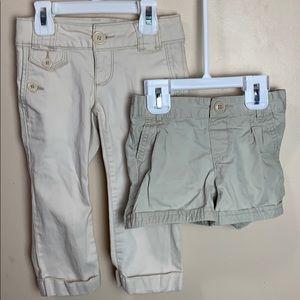 Girls Gap size 5 years Khaki Capris & khaki Shorts